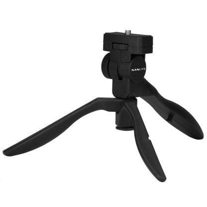 Nanlite mini tripod and hand grip with 14 screw mini